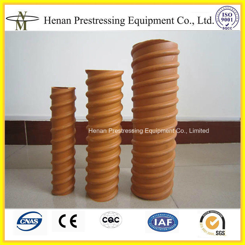 Tensioning Post Ductlastic : China post tension corrugated round and flat hdpe plastic