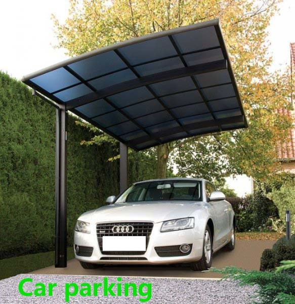 China Aluminum Car Parking Canopies And Carport For Car
