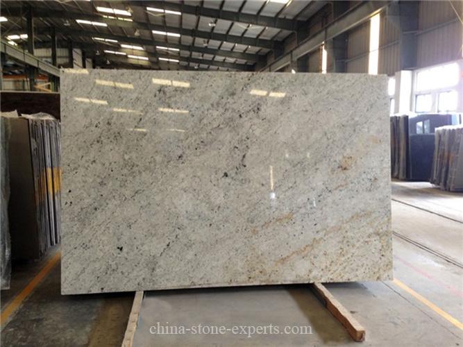 Polished Large Stone Slabs : Polished ivory white granite slab for kitchen countertop
