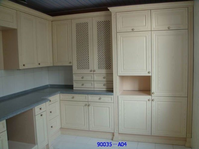 China MDF With PVC Wrap Kitchen Cabinets