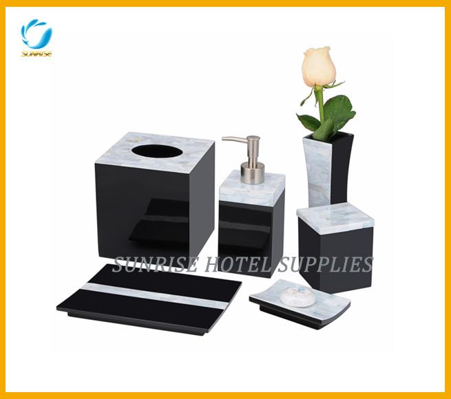 bathroom accessories amenity set square tissue box for hotel
