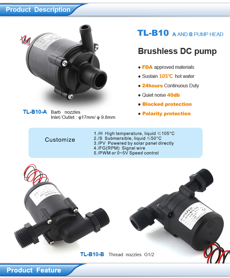 China 12v 24v Brushless Dc Submersible Water Pumps Solar