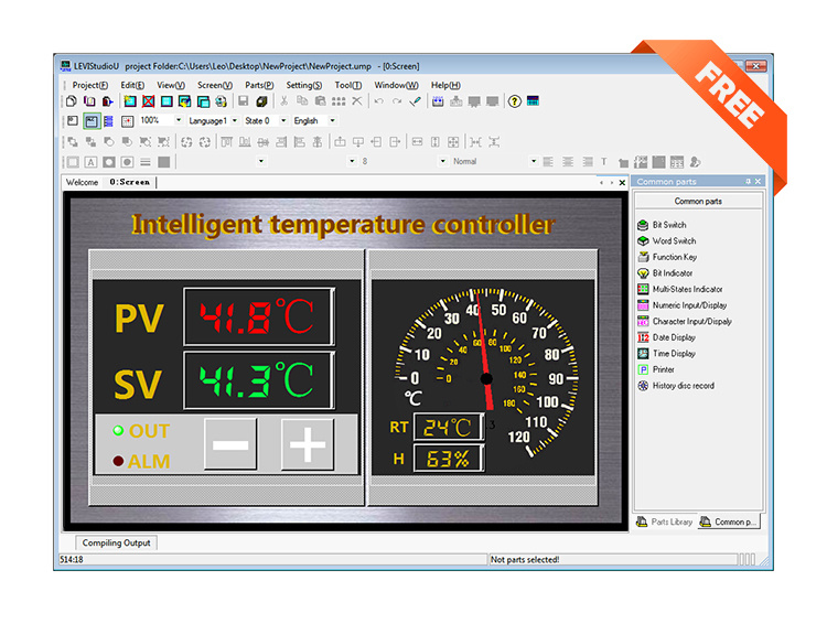 Wecon 7 Inch TFT HMI Touch Screen for Automation Control