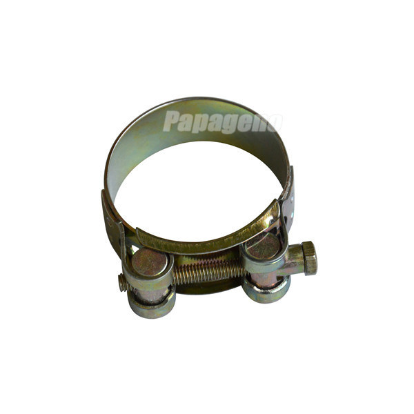 China hydraulic wide single bolt pipe clamp with solid nut