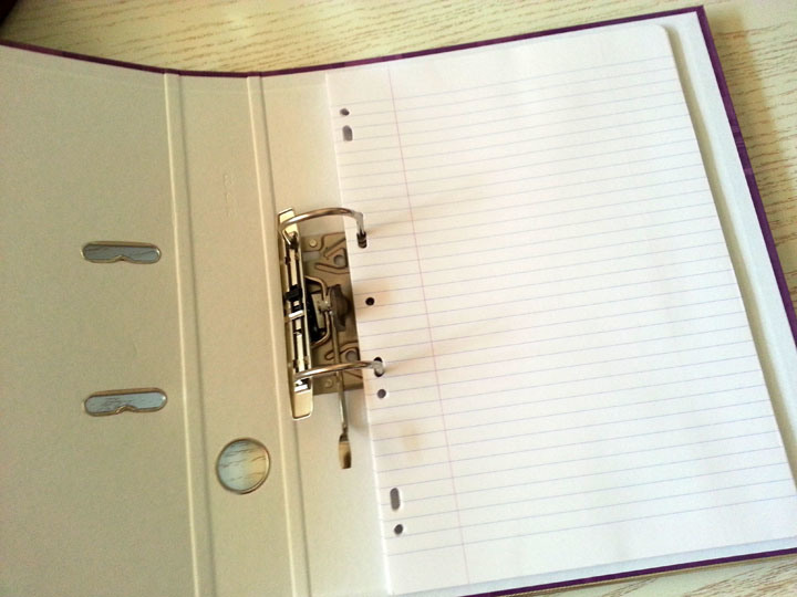 how to set word document for a4 ring binder