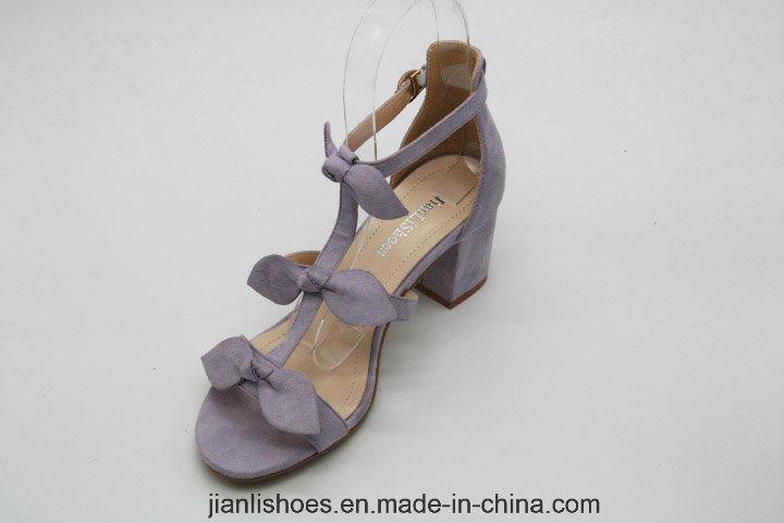 2018 Bowknot Ladies Colorful Flannelette Women Sandal (HSA50)