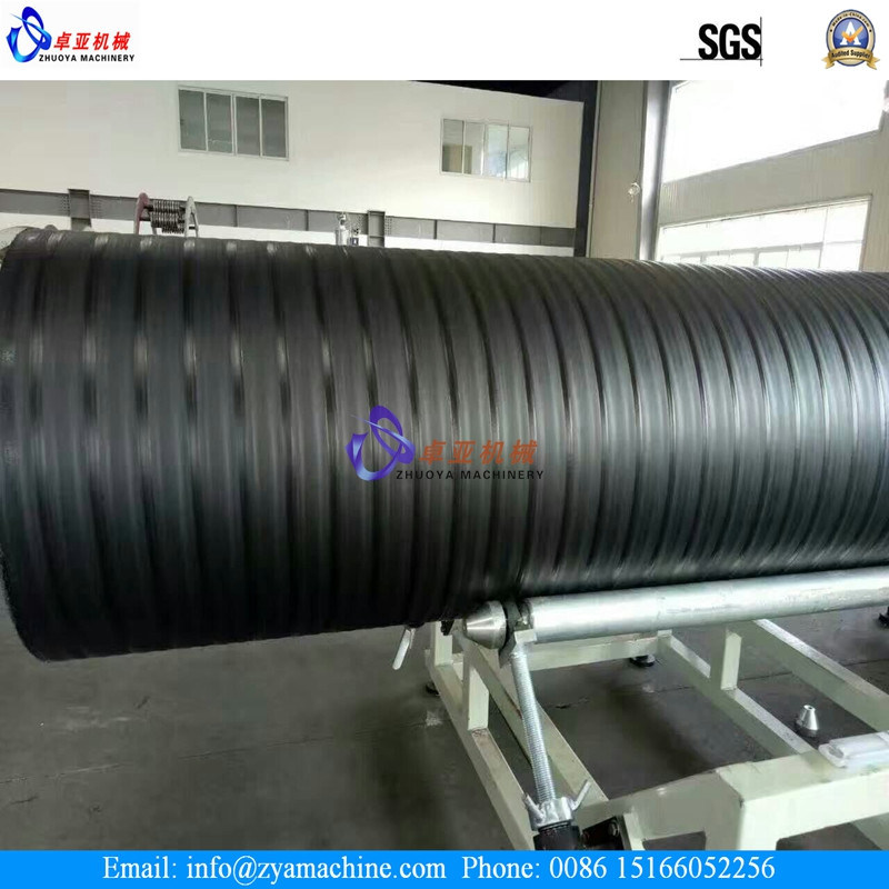 China large diameter hdpe drainage hollow wall spiral pipe
