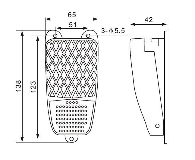 china fs-1  fs-2  fs-3 pedal footswitch