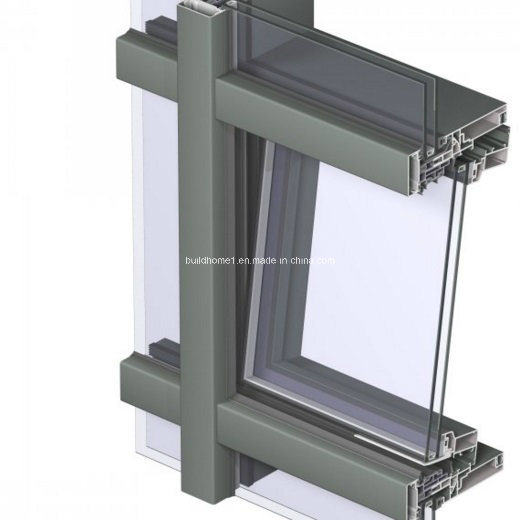 Anodized Aluminum Curtain Wall : China natural anodized silver aluminium frame glass