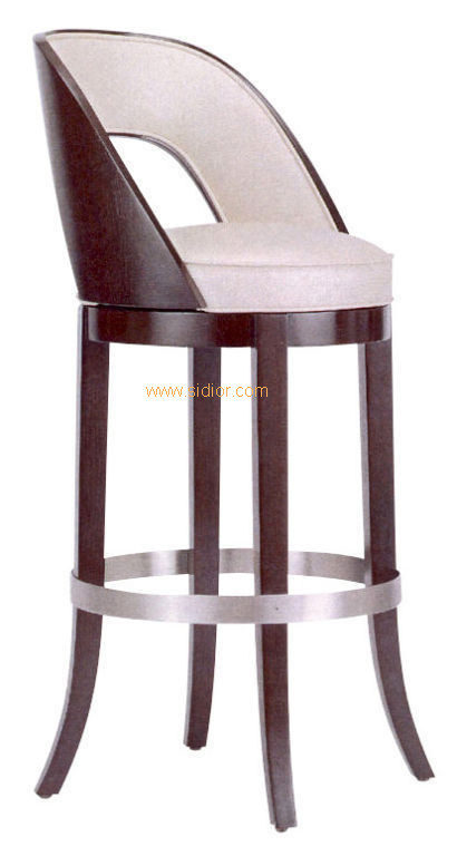(CL-4410) Classic Hotel Restaurant Club Furniture Wooden High Barstool Chair