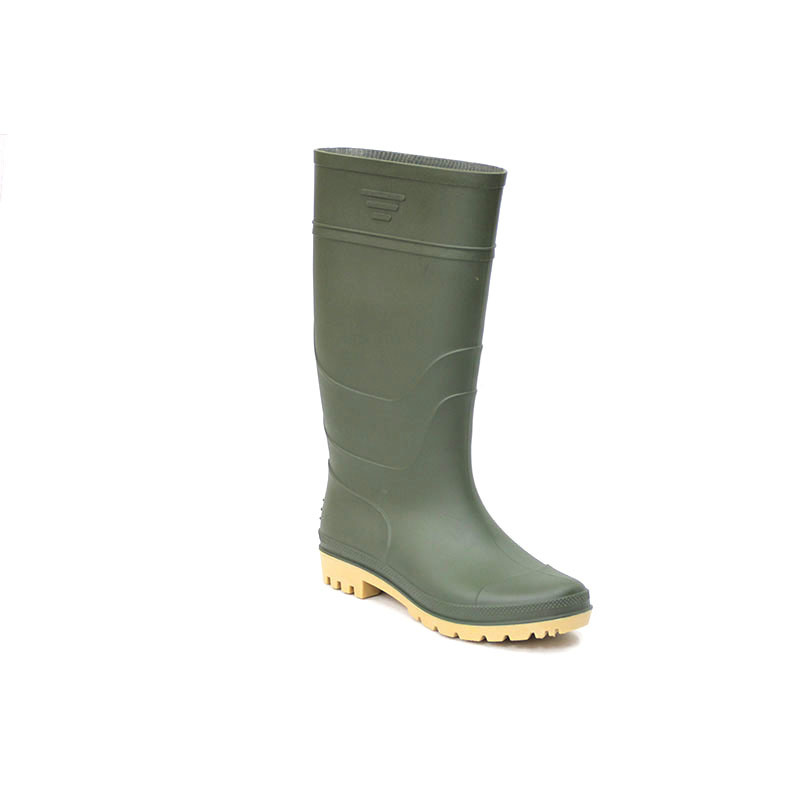China PVC Rain Boots (Green upper/Yellow Sole) - China Shoes Boots
