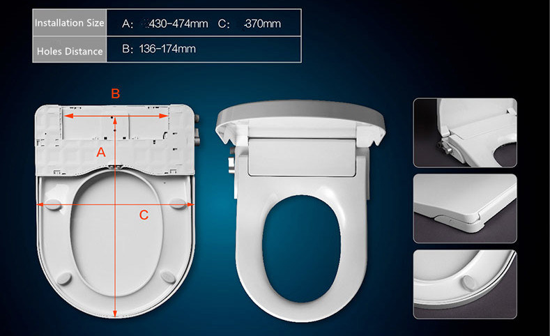 Europe Standard Fashion Toilet Seat Bidet