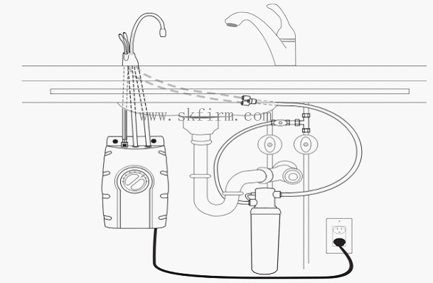 Rubinetto istante di pressureless del tubo di combinazione for Tubi del serbatoio dell acqua calda