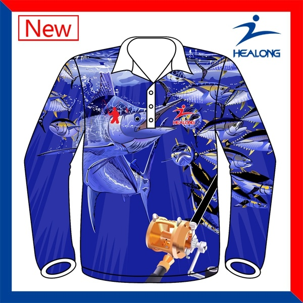 China design your own long sleeve full sublimated fishing for Customize your own long sleeve shirt