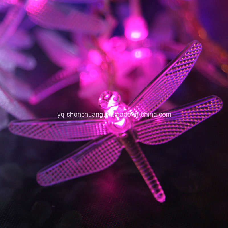 Outdoor Solar Dragonfly Garden Stake Lights For Holiday Decoration