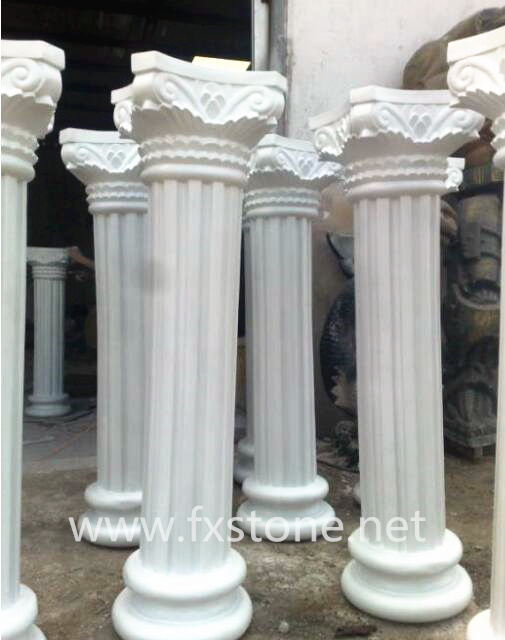 Off White Marble : China off white marble roman pillar bj feixiang