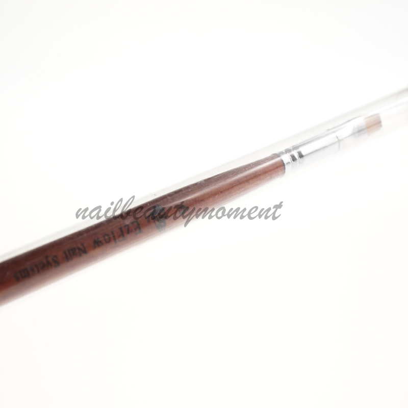 Kolinsky Wooden Nail Art UV Gel Builder Painting Brush (B034)