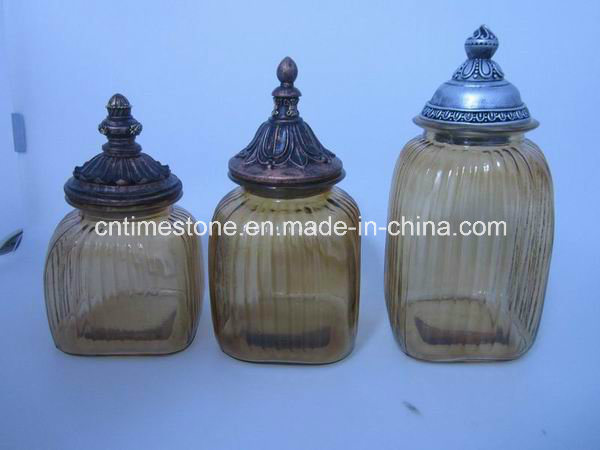 china colorful kitchen airtight lids glass canister