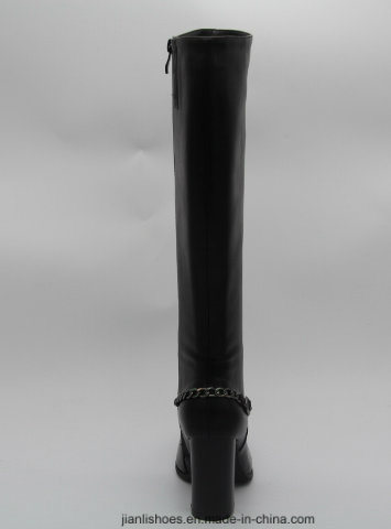 Sexy Traditional Style Knee-High Boots with Chain Decoration (BT708)