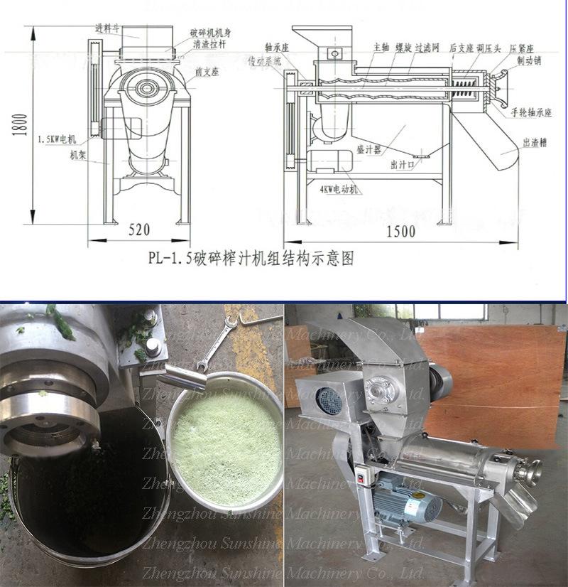 pineapple juice extractor machine
