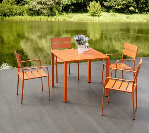 China Royal Fashion Powder Coating Aluminum Dining Set