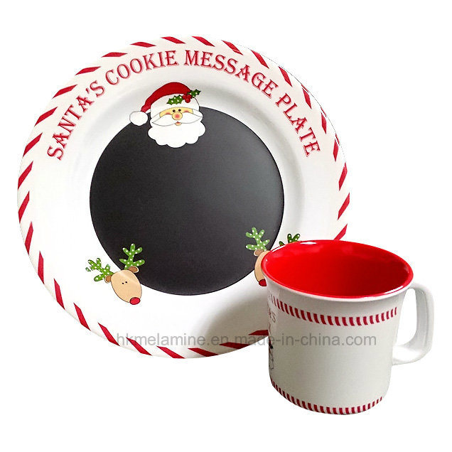 Melamine Santa Dinnerware Set with 2PCS (TZ6322)