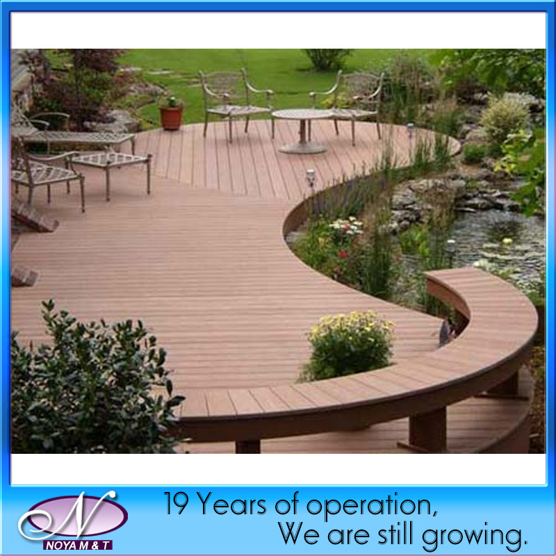 Synthetic WPC Decking for Outdoor Flooring Decoration