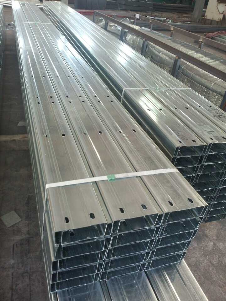 Galvanized Steel C Purlin for Prefabricated Steel Structure Buildings