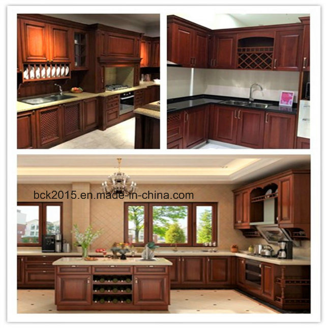 Red Cherry Wood Kitchen Cabinets: China Bck American Style Red Cherry Solid Wood Frame