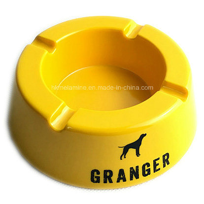Yellow Melamine Round Ashtray with Logo