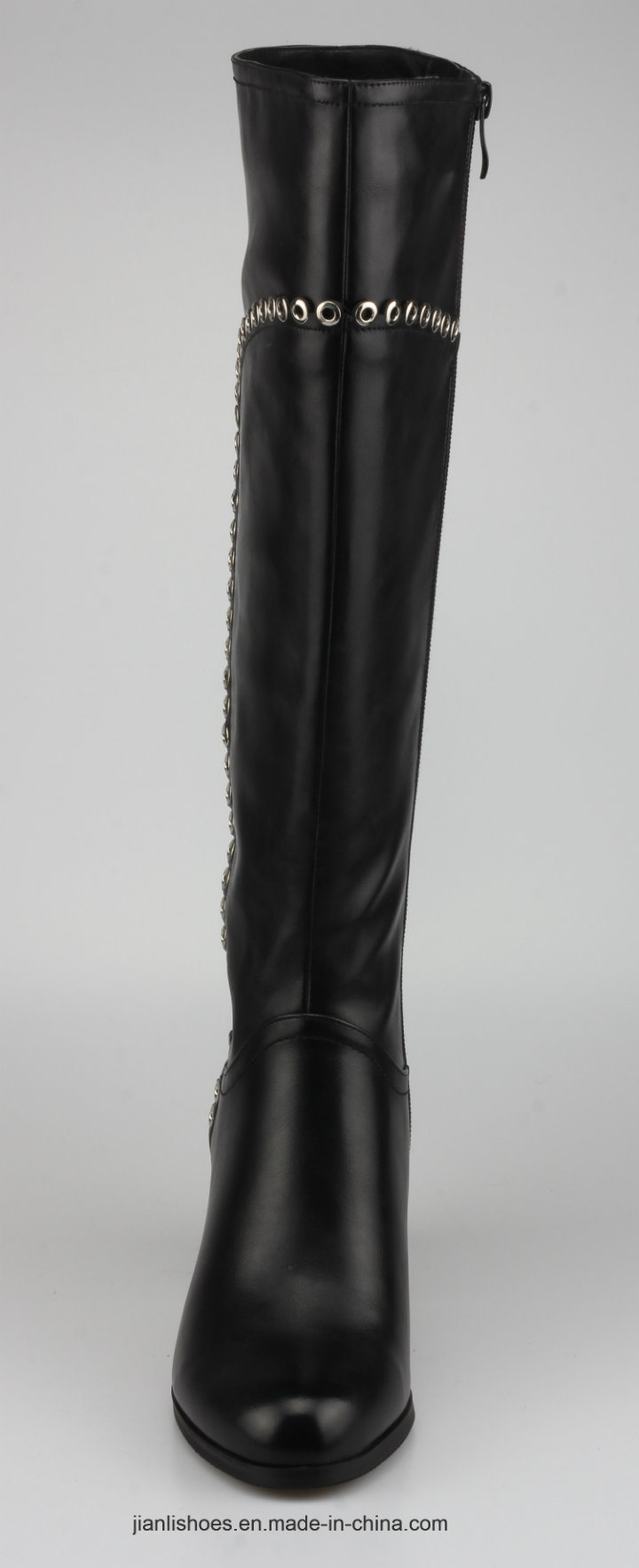 2018 Classic Style PU Knee-High Women Boots with Rivet Decoration (BT752)