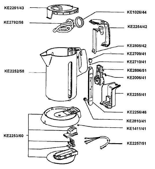 china performance electric kettle parts