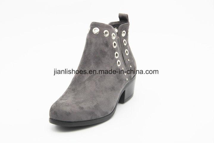 Women Fashion Rivet Good Quality Elastic PU Ankle Boots (AB621)
