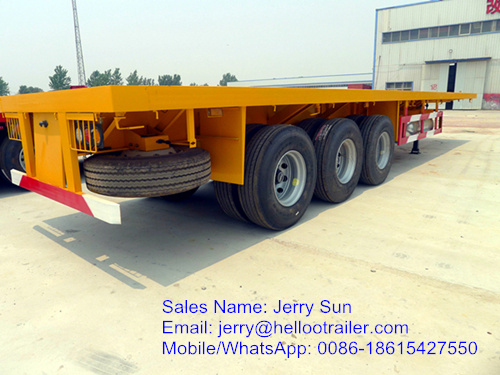 New Manufacture Flatbed Container Semi Trailer for Sale
