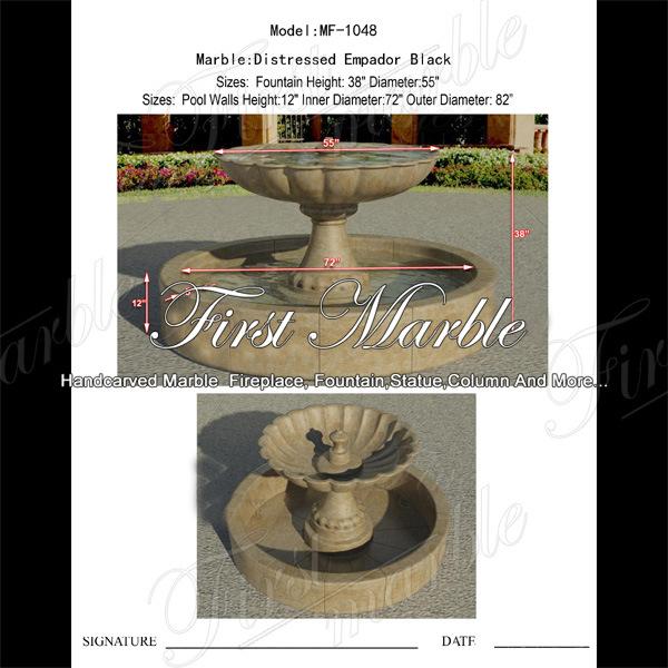 china distressed empador black fountain for garden decoration mf