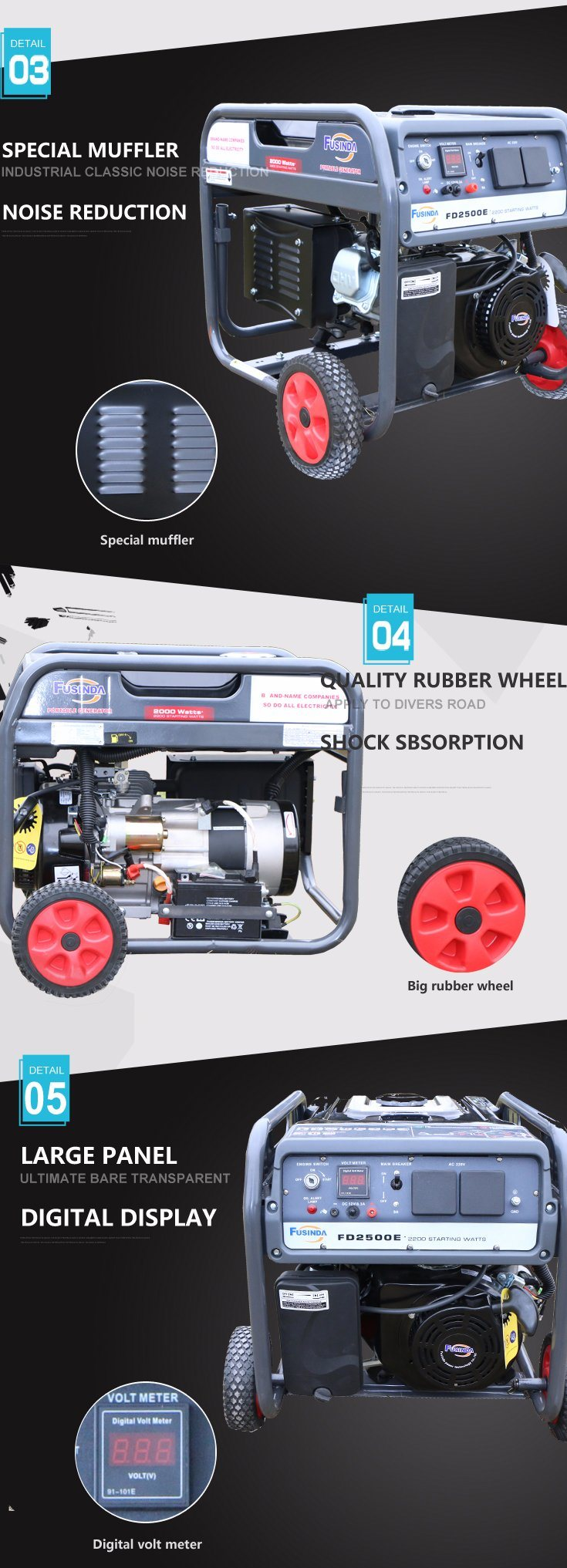 2.0kw-2.8kw Ce Portable Gasoline Generator with Lutian Engine