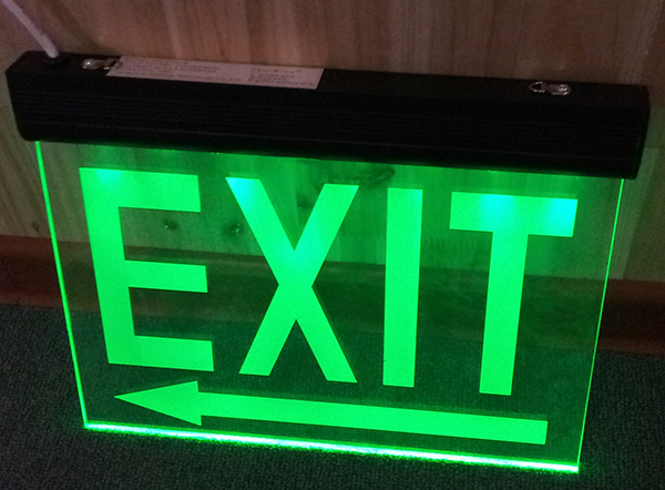 china green red rechargeable battery backup emergency exit lighting. Black Bedroom Furniture Sets. Home Design Ideas