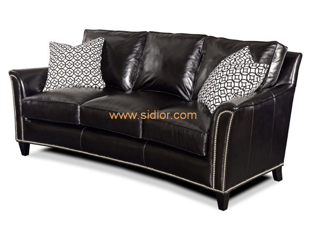 (CL-6606) Classic Hotel Restaurant Lobby Furniture Wooden Fabric Leather Sofa