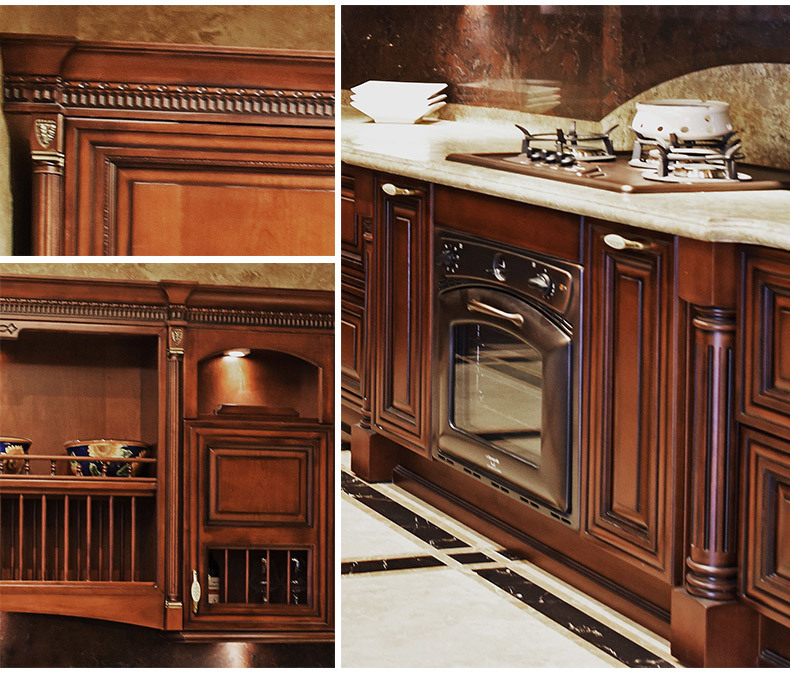 Solid Wood Kitchen Cabinets Made In Usa: China USA Market Solid Wood Furniture Kitchen Cabinet With