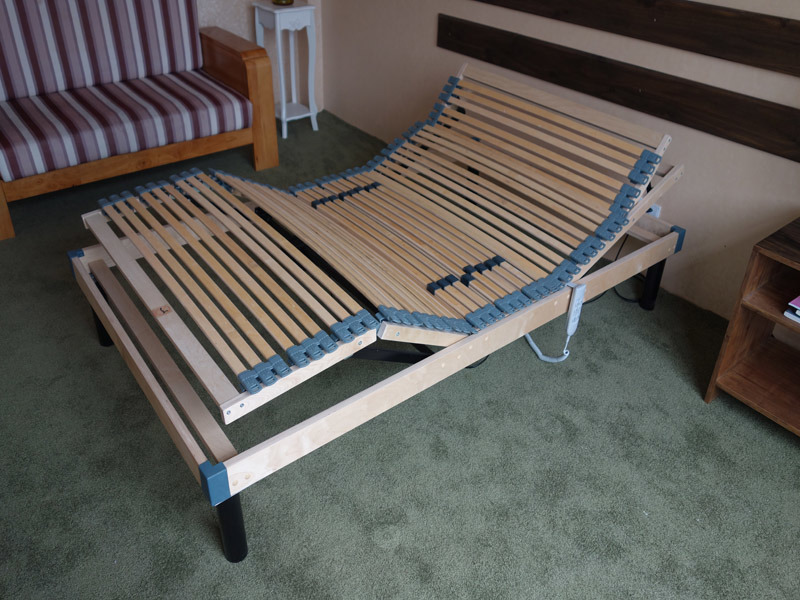 2016의 최신 판매 5 지역 박달나무 나무 전기 조정가능한 침대 ...