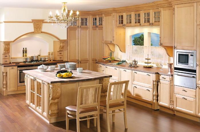 armoires de cuisine en bois (meuble de cuisine) yb1706022