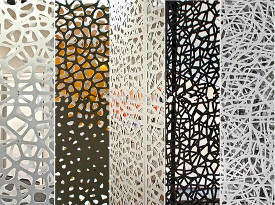 panneau d coratif coup par laser perfor en aluminium en m tal avec l 39 essai de leed panneau. Black Bedroom Furniture Sets. Home Design Ideas