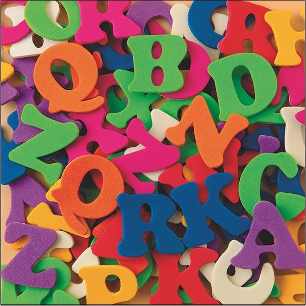 1/2 Lb Foam Alphabet Adhesive for Toys (AC756)