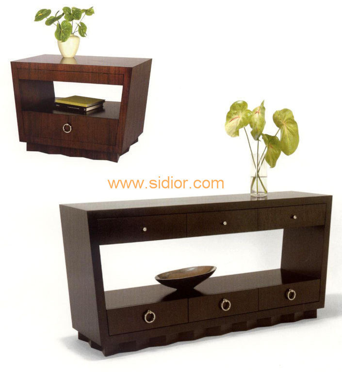 (CL-7705) Luxury Hotel Restaurant Villa Lobby Furniture Wooden Console Table