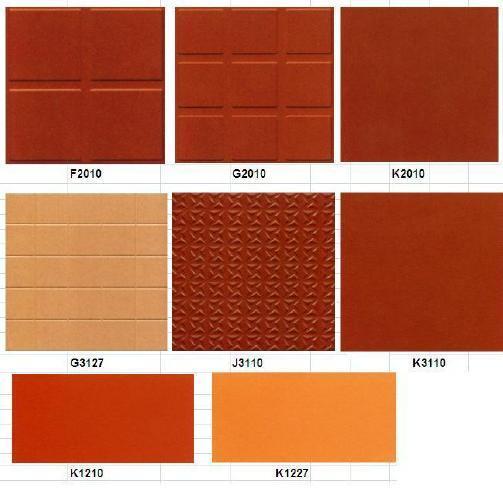 Rouge brique d 39 argile cuite carrelage g k6010 rouge for Carrelage exterieur rouge brique