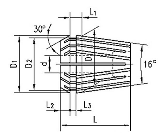 Standard High Precision Er8 Collet