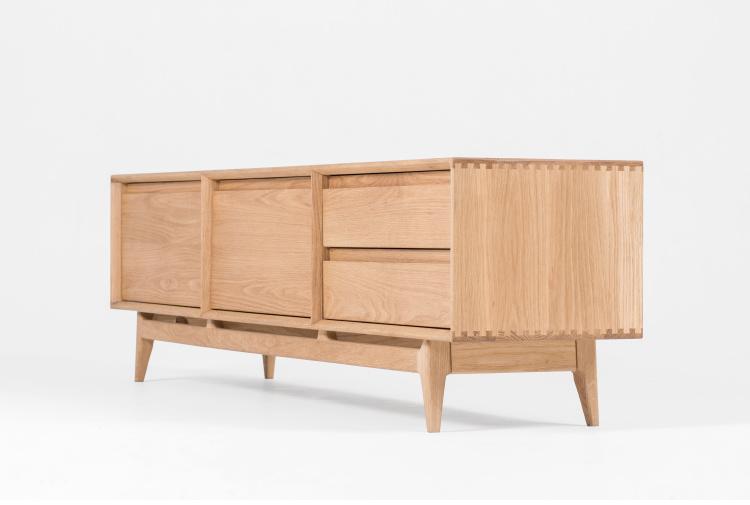 China solid wood oak tv cabinet wooden bedroom furniture