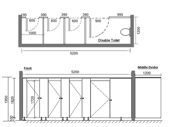 Jialifu Wood Grain HPL Board Toilet Partition Para Hotel Jialifu Wood Grain