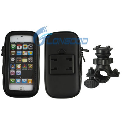 Bike Mount & Waterproof / Sand-Proof / Snow-Proof / Dirt-Proof Tough Touch Case for iPhone 5 5s