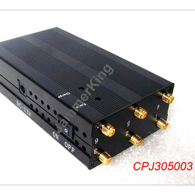 Rf signal detector - High Power Portable Signal Jammer for WiFi 3G and 2G Mobile Phone